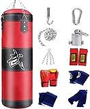 GXBCS Punching Bag Sacos Pesados Saco De Boxeo El Boxeo Grueso de la PU del paño de Oxford Fija el Saco de Boxeo Adulto de la Pared GXBCS0720(Color:Red;Size:80cm)