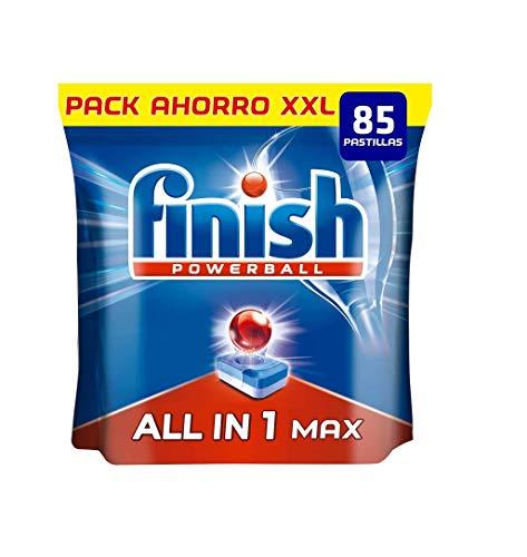 Finish Powerball All in 1 Max - Pastillas para el lavavajillas todo en 1 - formato 85 unidades