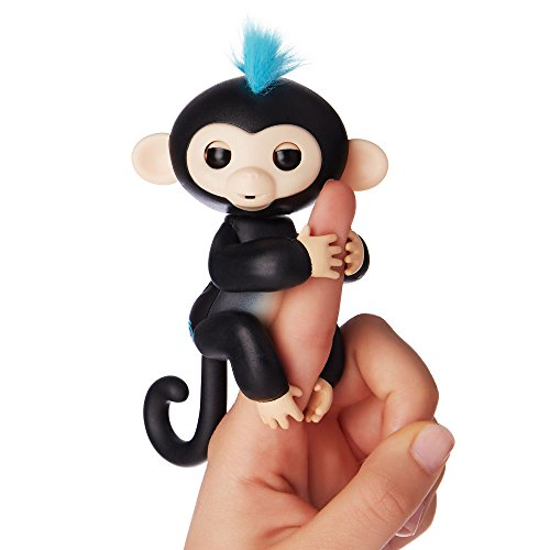 WowWee Fingerlings Finn, Mini Scimmietta Interattiva, Nero