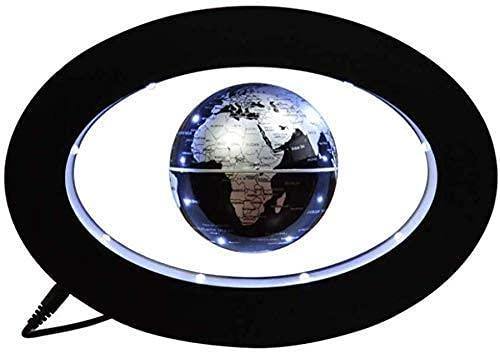 aipipl Globo del Mundo Explora el Mundo Globo Flotante Mapa de la Esfera Tierra Azul Oval Levitación magnética Decoración del Globo Adorno de luz HD Oficina Creativo