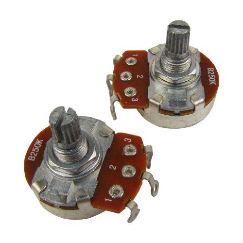 Musiclily Métricas 15mm Tamaño Pequeño Split Shaft Linear Taper Poti B250 kOhm...