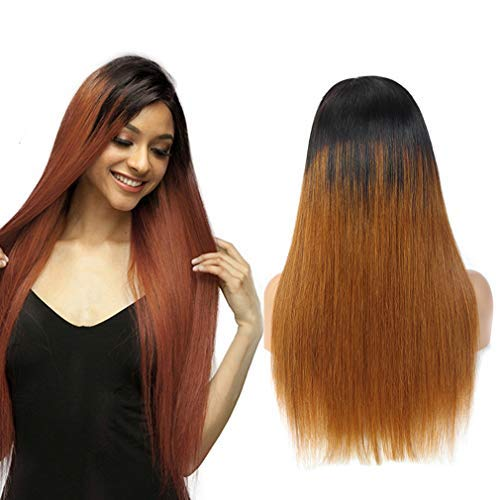 Ombre Straight 4x4 Closure Wig Remy Hair 1b/30 Lace Front Wig Human Hair 4x4 Lace High Grade Brazilian Hair 4x4 Closure Wig Bleached Knots With Soft Baby Hair Echthaar PerüCke 14 Zoll NIUDINNG