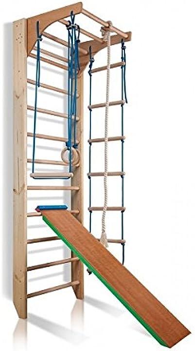 Attrezzature palestra spalliera kombi-3-240-colore legna sport attrezzo sportivo parete palestra