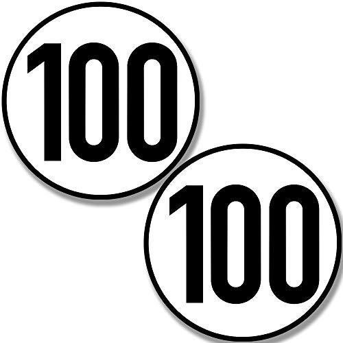 Kavaro 100 kmh Aufkleber für Hänger, Wohnwagen, usw. [20cm] nach Din 1451