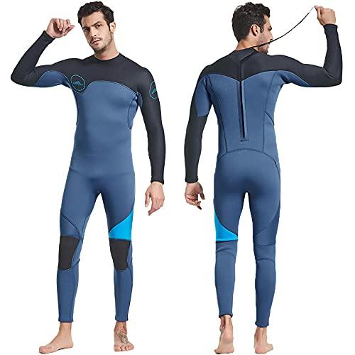 HIYIRUI Trabajo de Traje de Trabajo Completo Hombres 3mm Neopreno Traje de Buceo UV Protección de UV de Manga Larga One Pieza Traje de baño para Snorkeling Surfing Buceo Kayak Jet Skiing,2XL
