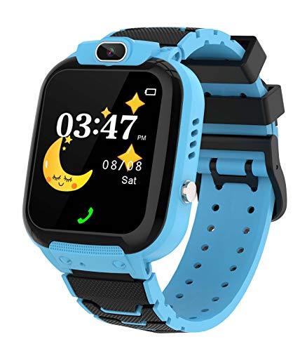 Orologio Intelligente Bambini con 7 Giochi, Display Touchscreen LCD da 1.44 Pollici, Smartwatch Impermeabile per Ragazzi Ragazze, per Bambino 4-12 Anni Natale Regaloblue