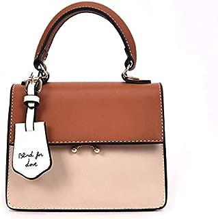 Whiteswanau Autumn Female Contrast Color Shoulder Bag Korean Version Concise Bag Wild Messenger Small Square Bag