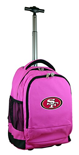 Denco NFL San Francisco 49ers Wheeled Backpack, 19-inches, Pink