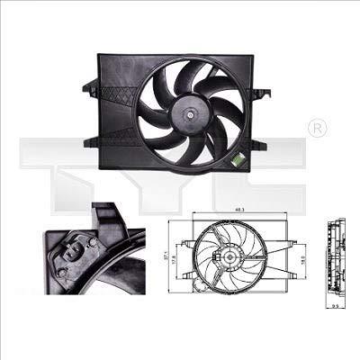 TYC 810-0025 - Ventilador para motor