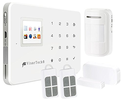 VisorTech WiFi Alarmanlage: WLAN-Alarmanlage XMD-5400.WiFi mit GSM-Handynetz- und Funk-Anbindung (GSM Alarm)