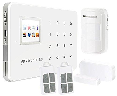 VisorTech WiFi Alarmanlage: WLAN-Alarmanlage XMD-5400.WiFi mit GSM-Handynetz- und Funk-Anbindung (Alarmanlage Haus)