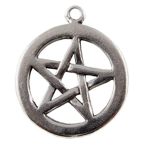 Charm School UK Plata Ley Pentáculo/Pentagrama Wicca