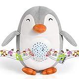 Máquina de Ruido Blanco de Pingüino Momcozy, Proyector de Luz Nocturna Recargable, Juguetes Musicales con 15 Sonidos Relajantes, Lámpara Nocturna para Bebés con Sensor de Llanto, etc.