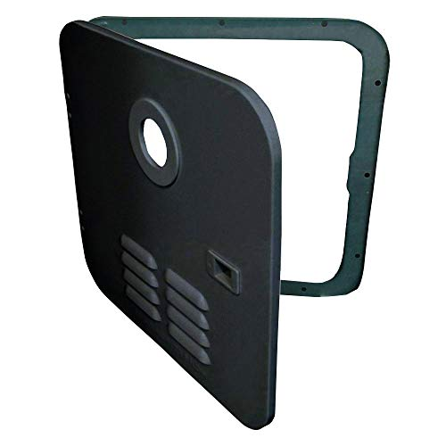 Girard 2GWHDA6B Door/Flange Assembly Conversion - Atwood 6-Gallon Water Heater, Black