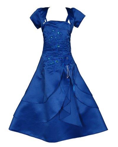 Cinda Mädchen Brautjungfer/Heilige Kommunion Kleid Blau 146-152