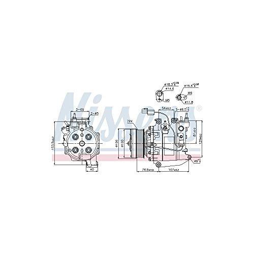 NISSENS 89246 Kompressor, Klimaanlage