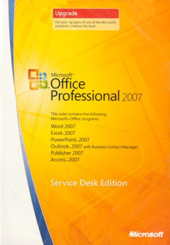 Microsoft Office Pro 2007 Win32 English VUP Can/UK Only CD Retail Tech [import anglais]