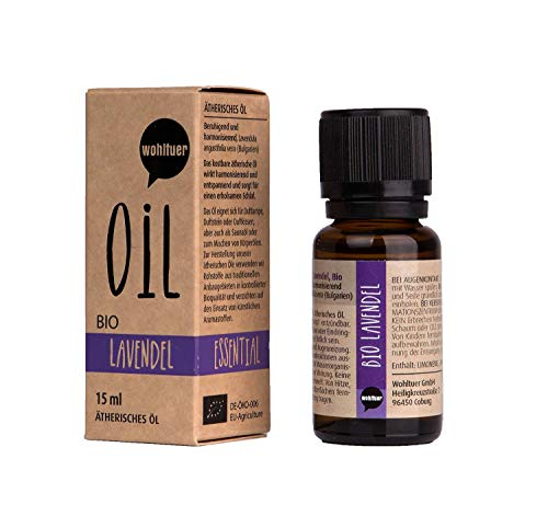 Wohltuer Bio Lavendelöl Ätherisches Öl Lavendel Bio (15ml) Organic Essential Oil Lavender Duftöl Aromaöl