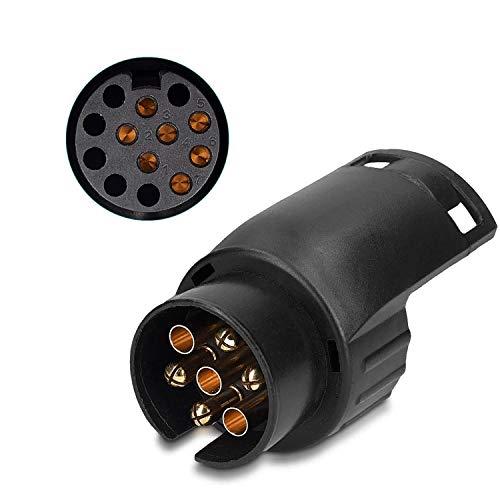 Adaptador de enchufe de remolque de 7 a 13 pines, enchufe de 12 V, para remolque de coche, caravana, conector de 7 a 13 polos.
