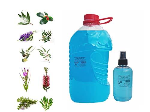SPRAY ANTIVIRICO DESINFECTANTE 3LITROS PARA RELLENAR +SPRAY 250ML REGALO-10 Aceites Esenciales.Limpiador Hidroalcohólico 100% Eficaz. Piel, textil, Multisuperficie.