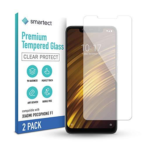 smartect Schutzglas kompatibel mit Xiaomi Pocophone F1 [2 Stück] - Tempered Glass mit 9H Härte - Blasenfreie Schutzfolie - Anti-Kratzer Displayschutzfolie