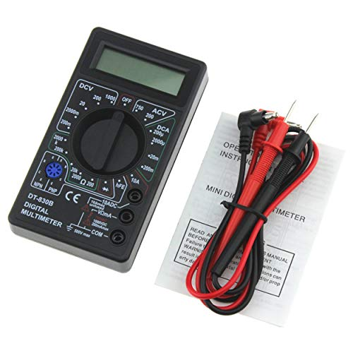 Lodenlli DT-830B Mini multímetro digital de bolsillo 1999 cuentas AC/DC Volt Amp Ohm Diodo hFE Tester Amperímetro Voltímetro Ohmímetro