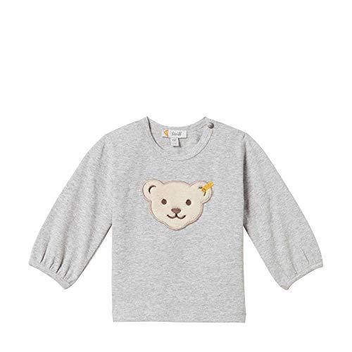 Steiff Baby - Mädchen Langarmshirt , Grau (QUARRY 9007) , 80 (Herstellergröße:80)