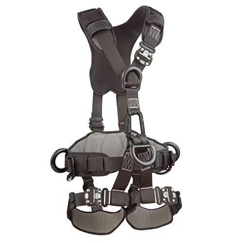 3M 1113371 DBI-SALA ExoFit NEX Full Body Black Out Rope Access/Rescue Harness, 5 AlumD-Rings, Belt w/ Pad/Side D-Rings, Locking QC Leg Straps, Medium, Blue/Grey