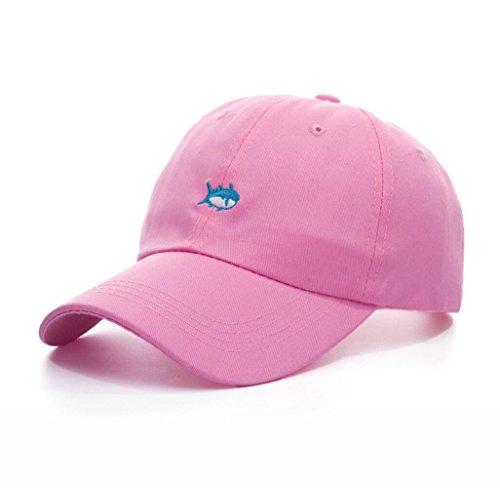 Funny hat Printemps Automne Unisexe Loisirs Simplicité Coton réglable Rose Broderie de Baseball/Casual Sport Outdoor Snapback Casquette avec Motif de