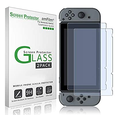amFilm Tempered Glass Screen Protector for Nintendo Switch 2017 (2-Pack) by amFilm