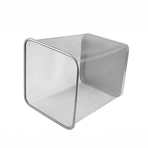 FIJTPSAN Basura 1pc Baño Basura de Bote de Basura de Hierro Contenedor de Basura for el hogar Basket Basket Fash (Color : Silver)