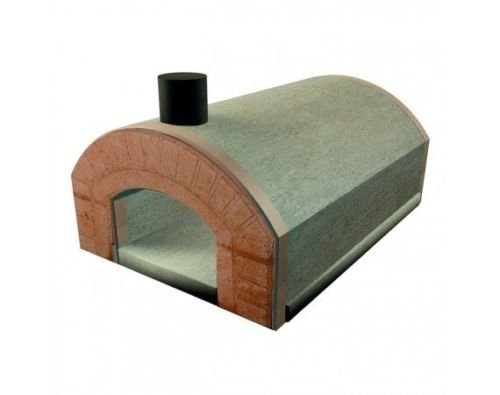 Lineavz Forno a Legna refrattario prefabbricato Esterno 5 pizze 30 cm Arco Bocca Sorrento