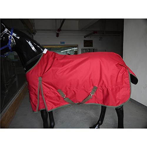 LOVEPET Herbst- Und Winterpferdedecke 1200D Super-Ripstop-Oxford-Tuch wasserdicht Atmungsaktiv 230G Dicke Baumwolle Warm Und Gemütlich