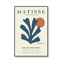 アンリ・マティス抽象イラストポスターと版画展ベージュアート写真家族フレームレス帆布絵画 no.2 30x40cm