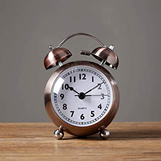 Shuazi Mute Alarm Clock Children's Clock Students use The Artifact of Getting up at The Head of The Bed Vintage Mechanical Small Alarm Table Clock Decoration
