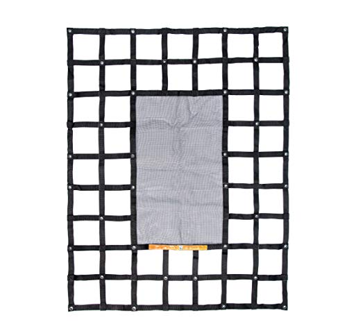 Gladiator Cargo Gear - SafetyWeb Cargo Net - Heavy Duty, Adjustable- Small 4.75' x 6' (SSW-100)