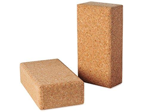 Kavi (Set of 2) Cork Yoga Blocks, Yoga Bricks, Wedges, Yoga Block, Gym, Exercise, Yoga, Fitness and Balance Workout, Yoga Props, Gifts for him,