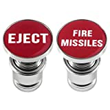 Aokin Eject Button and Fire Missiles Button Cigarette Lighter Cover, Car Cigarette Lighter Replacement Fits Most Vehicles with Standard 12 Volt Power Source