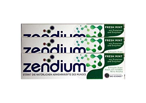 3x Zendium Fresh Mint mit Proteinen & Enzymen 75ml Zahnpasta NEU