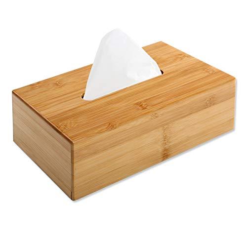 Gräfenstayn Caja de pañuelos bambú - dispensador para Todos los pañuelos y Toallas de Papel estándar - Caja de pañuelos de Madera también como decoración para el sofá y el salón