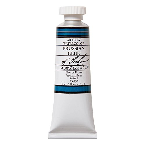M. Graham 1/2-Ounce Tube Watercolor Paint, Prussian Blue (33-153)