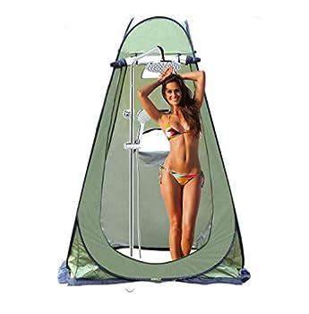 Tente d'intimité Portable, Parkarma Tente de Douche de Camping Pop-up Toilette Rideau de Douche d'intimité pour Camp de Plage, Alpinisme, Extérieur, Randonnée, Pêche 150 * 150 * 190CM (Vert)