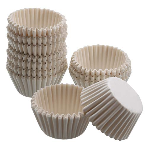 MISAZ 1000 Pieces Mini Baking Cups Paper Liners, Chocolate Paper Liners Muffin Cupcake Cake Bakeware Cases Home Kitchen Cake Tools,White