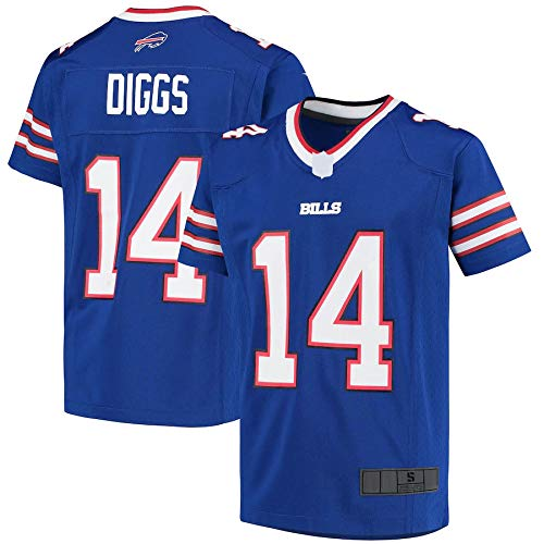Camisetas de fútbol americano al aire libre Diggs Stefon Bills Buffalo #14 Juventud 2020 Juego Jersey Repetible Limpieza Entrenamiento Camisa Para Juventud - Royal