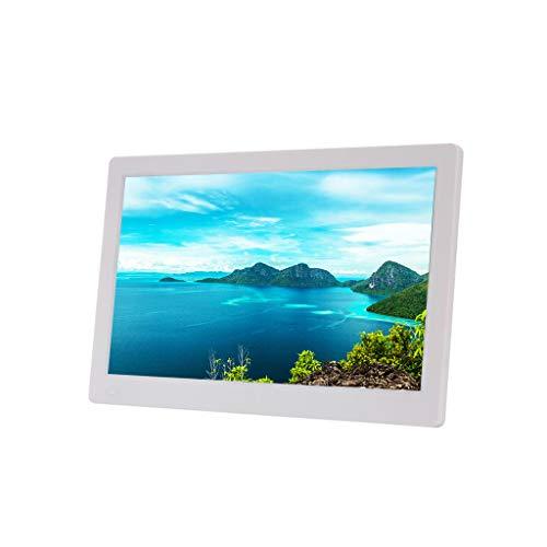 Marco de Fotos Digital Negro Blanco Vista Completa Pantalla Dura IPS Álbum electrónico HD con Soporte HDMI Máquina de Publicidad 1080P Tarjeta SD de 16GB Gratis
