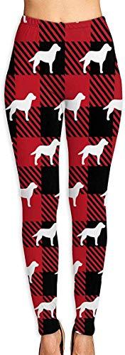 LVOE TTL Pantalons de yoga pour femmes Labrador Retriever Buffalo Plaid Fitness Pantalons de yoga Power Flex Leggings