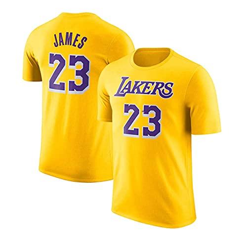 Camiseta, Camiseta NBA Irving James Durant Curry, Camiseta Informal Ropa del Equipo, Camiseta De Entrenamiento De Verano para Hombre, Ropa Deportiva De Manga Corta para Fanáticos,Amarillo,XL/X~Large