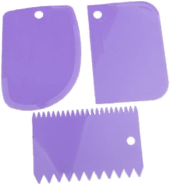 Teigschaber Teigspachtel Set aus Kunststoff Spachtel und Schaber Zum Backen Teigkarte Streichpalette für Kuchen und Torten, spülmaschinengeeignet, Weiß Rot