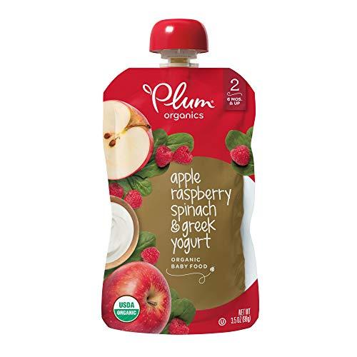 Plum Organics Baby Stage 2 Food, Apple, Raspberry, Spinach and Greek Yogurt, 3.5 Ounce (Pack of 6)