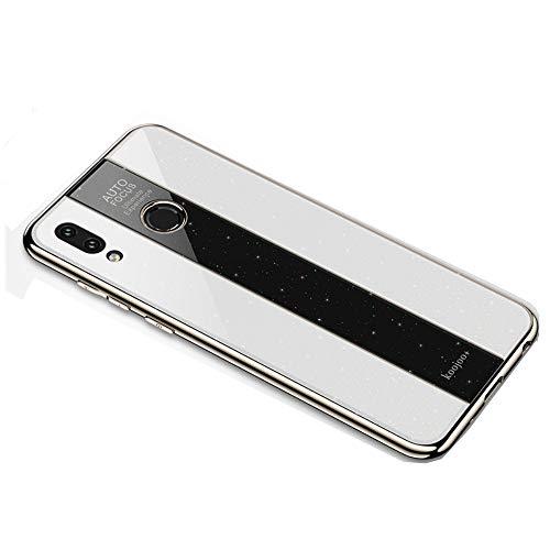 BELLA BEAR Glitter Case voor Huawei Honor Play Plexiglass + vergulde zachte rubberen aansteker en meer anti-val telefoonhoesje voor Huawei Honor Play